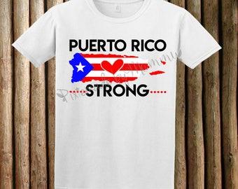 Puerto Rico Strong, United we will rise again, Puerto Rico Shirt, Hurricane Maria