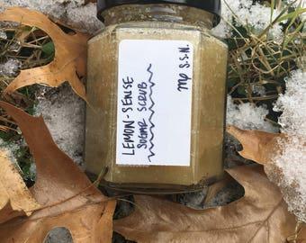 Natural Lemon-Sense Sugar Scrub