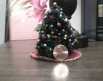 half scale miniature christmas tree