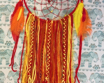 Large Red/Yellow Dreamcatcher