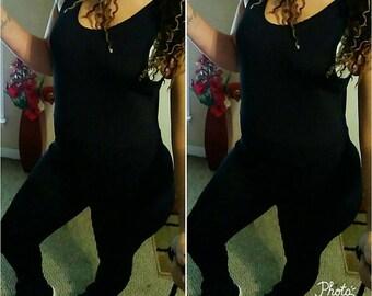 Black one piece bodysuit