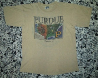 Purdue university tshirt vintage