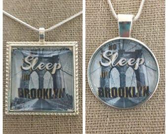 Beastie Boys-No sleep till Brooklyn pendant necklace.Beastie Boys lyric pendant.Beastie Boys jewelry.Beastie Boys quote