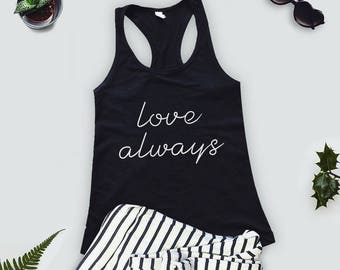 Sale - Yoga Tank Top - Womens Size Large - Teal Racerback Tank Top - Workout Gym Tank Top - Love Always Apparel for Charity