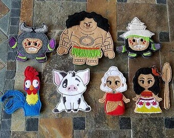 Moana Inspired Finger Puppets