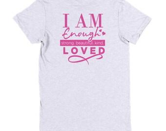 I am Enough Short sleeve women's t-shirt/ Women's Apparel/ Women's t-shirt