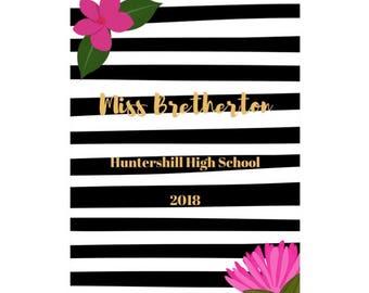 Florals and Stripes Teacher Planner 2018