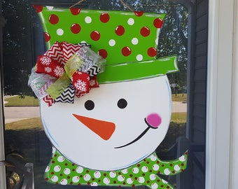 Snowman wooden door Hanger