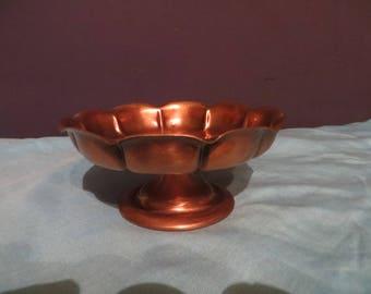 vintage gregorian copper candle holder candy dish 32