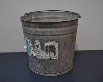 Vintage 3.5 Gallon Galvanized Bucket