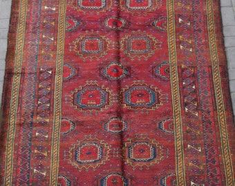 Handmade Afghan Sarooq Vintage Baluch Rug