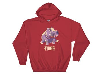 Fiona The Hippo #TeamFiona, Cute Baby Hippo Hoodie