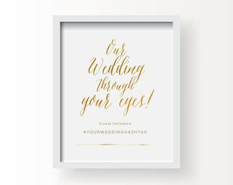 8x10_Gold Wedding Sign_Instagram sign