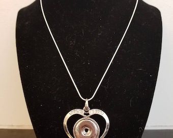 18mm Heart snap necklace