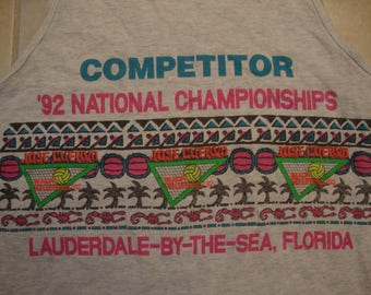 Vintage 90's Jose Cuervo Tequila Volleyball 92 National Championships Sports Tank Top Size L