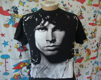 Vintage The Doors Jim Morrison All Over Print T Shirt Size M
