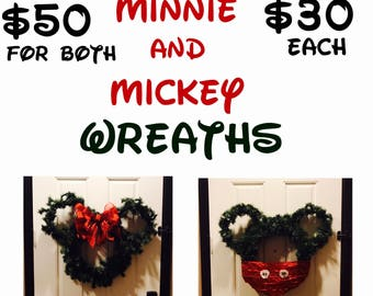 Mickey Mouse Inspired Christmas Wreaths