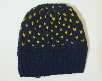 Fair Isle Knit Hat  // Chunky Knit