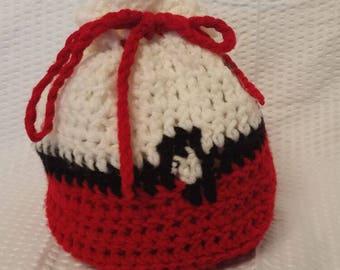 Handmade Crocheted Pokeball Pouch
