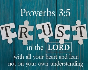 Proverbs 3:5 #4 NIV Trust in the Lord with all your Heart Scripture Art, Framed Bible verses, Religious framed art, Wall Hangings, Christian