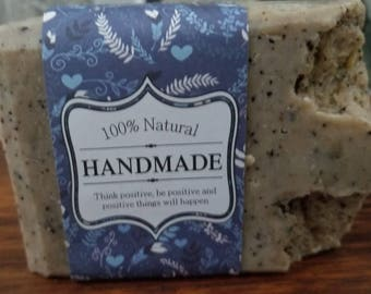 Exfoliating scrub soap .