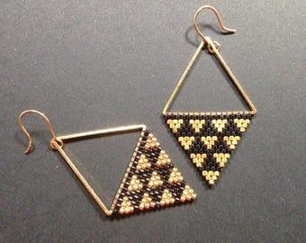 Earrings woven Miyuki beads