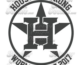 Astros Houston Strong World Series decal fan art