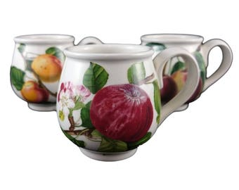 Portmeirion 'Pomona' Mocha Cups – Set of Three