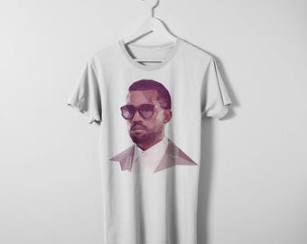 Kanye West T-shirt. Available in men's and women's sizes. Printed on a comfy Bella Canvas cotton t-shirt.