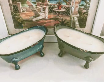 vintage clawfoot tub soy candles