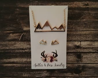 Mountain Necklace & Earring Pack