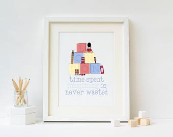 London Toys Nursery Art Print