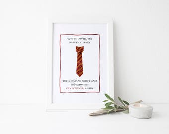 "Harry Potter Inspired House Ties - ""Gryffindor"""