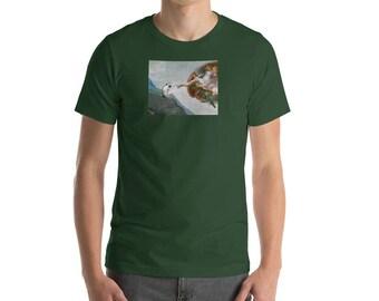 Hedgehog Art Shirt: Michelangelo's Sistine Chapel Hedgehog Art - Unisex T-Shirt - by Urchin Wear