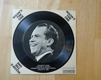 Nixon's The One 33 RPM 1968 Auravision Flexi-Disc Record