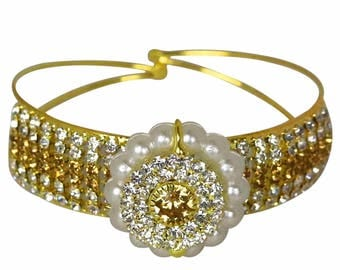 Embellished Bracelet With Pearls