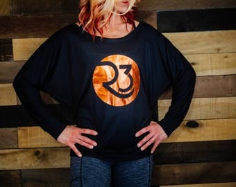 REB3L copper long sleeve pullover