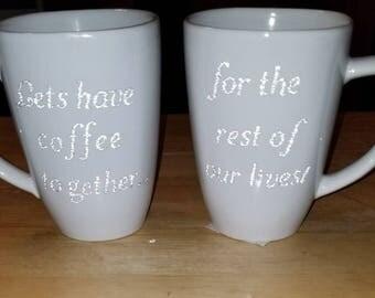 2 pc Coffee mug set
