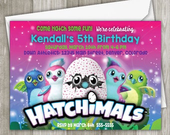 Hatchimals Digital Birthday Invitation - 5 x 7 or 4 x 6