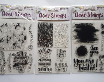 Craft sensations clear stamps