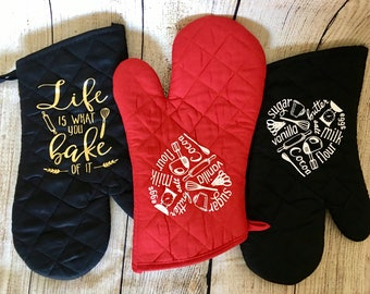 Custom Oven Mitt/pot holder Gift for anyone-teacher family friends-quick gift gift easy gift