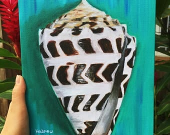 Hebrew Cone Shell Oil Painting *Canvas Print*
