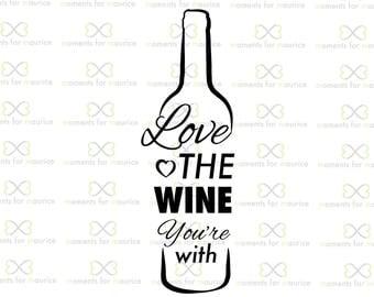 Download Love wine bottles | Etsy