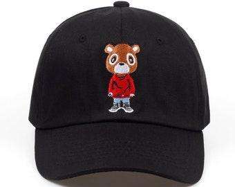 Kanye West Graduation Dropout Bear Dad Hat/Cap - College Dropout, Late Registration, Graduation Hat