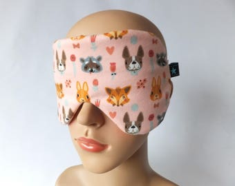 Sleeping mask sleeping glasses pink with critters