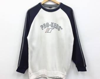 Rare!!Vintage Pro Keds Biglogo Spellout Pullover Sweatshirt