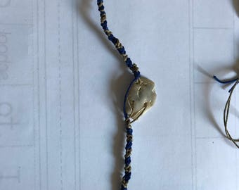 "Blue and ""gold"" bracelet"