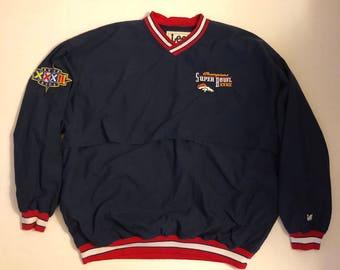 Denver Broncos 1997 Super Bowl XXXII Champions Vintage Mens Windbreaker 2XL