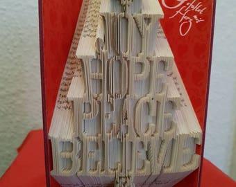 Christmas tree, folded book