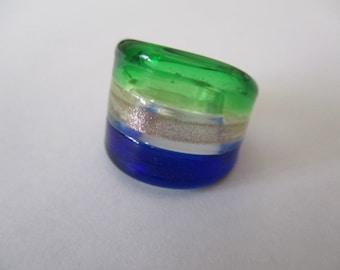 ring murano glass